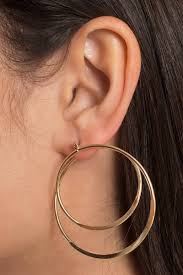 hoop earrings trouble gold hoop earrings 9 tobi us