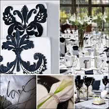 black and white wedding centerpieces jpg