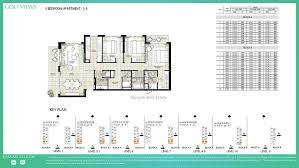 3 Bedroom Apartments Floor Plans by Views By Emaar 3 Bedroom Apartment 3a Floor Plan