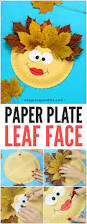 leaf face paper plate craft easy peasy and fun