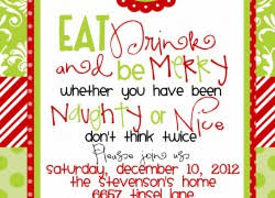 christmas dinner invitation wording bachelor party invitations reduxsquad com