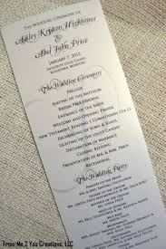 Examples Of Wedding Programs Templates French Decadence Tri Fold Wedding Programs Sample In Black And
