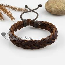 leather bracelet woven images Adjustable woven leather bracelets for men and women wholesale jpg
