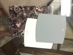 battleship gray and hazlenut cream by behr faux granite laminate