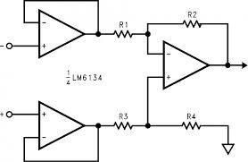 symbols instrumentation amplifier application instrumentation
