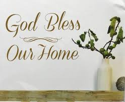 Stick Wall Wall Quotes Gold Foil Peel And Stick Wall Decals God Bless Our