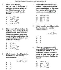 word problem addition and subtraction families for addition subtraction word problems pretest posttest