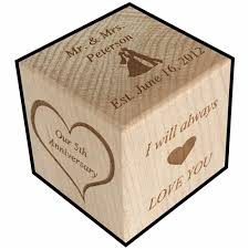 fifth anniversary gift traditional wood gift for 5th anniversary personalized engraved