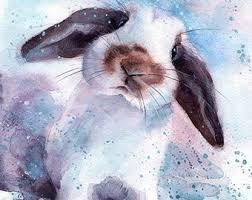 acrylic rabbit ring holder images Rabbit painting etsy jpg