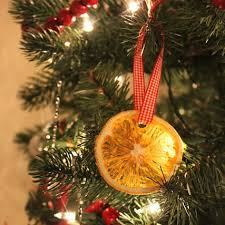 dried orange slice ornaments at cloverhill