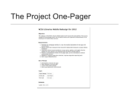 Sample Project Summary Template Project Summary Document Template by The Project One Pager A Simple Tool For Collaboratively Defining Pr U2026
