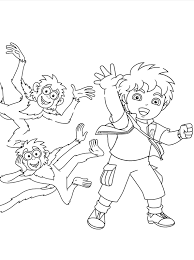 diego print coloring pages cartoon coloring pages