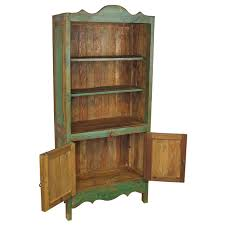 Pine Bookcase With Doors Painted Wood Santa Fe Bookcase With Doors