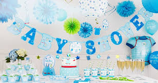 blue baby shower decorations boy baby shower packages ba shower party supplies ba shower