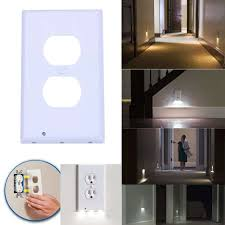 receptacle cover night light fashion plug cover led night angel wall outlet face hallway bathroom