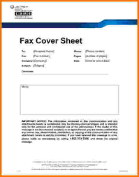 fax cover sheet sample statement confidential fax cover sheet