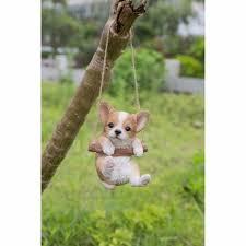 Chihuahua Christmas Ornaments Hanging Chihuahua Puppy Dog Life Like Figurine Statue Home