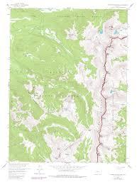 Rocky Mountain Range Map Never Summer Wilderness