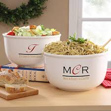monogrammed serving dishes chef s monogram personalized serving bowl