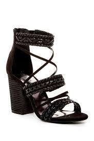 lyst carlos by carlos santana java block heel sandal in black