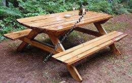 amazon com build your own wood picnic table family size park