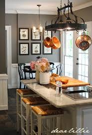 kitchen island with pot rack dear lillie matt and meredith s kitchen makeover of