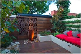 backyards cool patio with wood deck and feature walls pdf 95