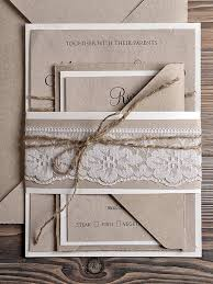 recycling paper wedding invitation country style lace