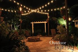 post to hang string lights really like post with hanging string light idea to light up the