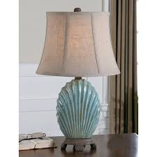 Uttermost Floor Lamps Uttermost Seashell Resin Ceramic Metal And Fabric Floor Lamp