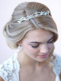 bridal tiara modern scrolling wedding tiara bridal crown usabride