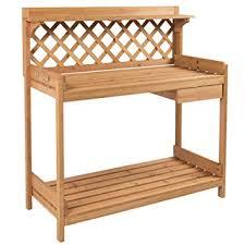 gardening bench amazon com best choice products potting bench outdoor garden work