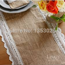 Burlap Lace Table Runner Lace Table Runner Picture More Detailed Picture About Free