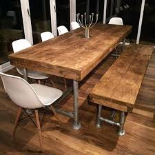 Pine Dining Room Tables Rustic Dining Table And Bench Pleasing Design Rustic Pine Dining