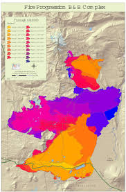 Oregon Fires Map Wildland Fire Map Of The B And B Complex