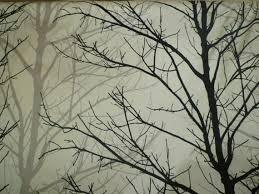 cotton fabric black grey white tree prestigious funky fabric per