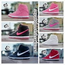 Jual Nike Wedge jual sepatu nike wedges sneakers boots wanita pink ful limited