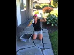 Mortar Mix For Patio Diy Flagstone Mortar Removal And Repair Youtube