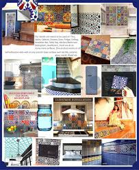 amazon com bleucoin mexican talavera tile sticker for kitchen and