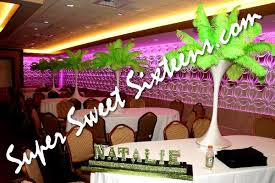 feather centerpieces feather centerpieces island sweet 16 party centerpiece rentals