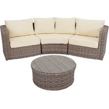 Wicker Sectional Patio Furniture by Sunnydaze Mollendo 4 Piece Sofa Sectional Patio Furniture Set With