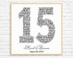 15 year anniversary gift ideas for 15th anniversary etsy