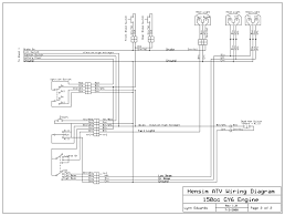 chinese 4 wheeler wiring diagram for 200cc 250cc quad full