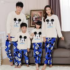 wholesale thick family matching pajamas flannel winter warm