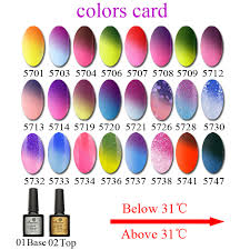 saviland 1pcs nail gel thermo varnish temperature change nail mood