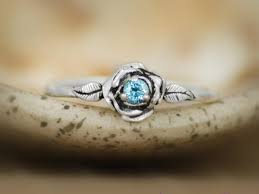 commitment ring swiss blue topaz delicate engagement ring in sterling