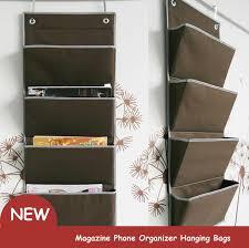 Closet Hanger Organizers - magazine phone organizer hanging bags door closet hanger book