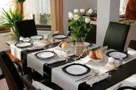 set table to dinner dining table set decoration unique decor modern style breakfast