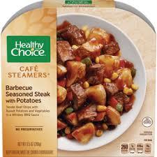 cuisine steak barbecue seasoned steak with potatoes healthy choice