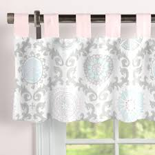 pink and gray rosa window valance tab top carousel designs